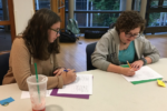 Learning in pairs at Teen Beit Midrash (Courtesy photo)