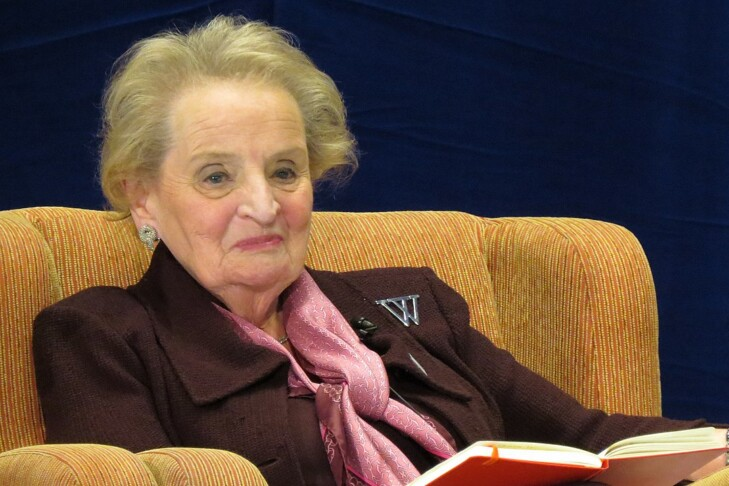 Madeleine Albright (Photo: Brinacor/Wikimedia Commons)