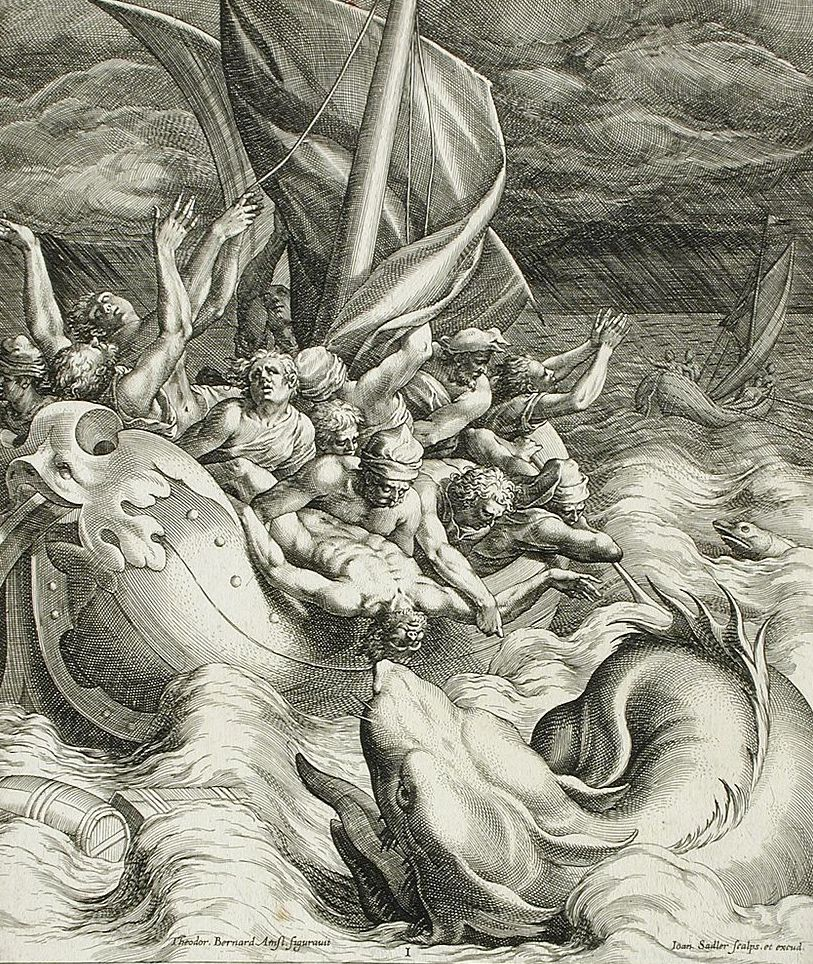 """Jonah Thrown to the Whale"" by Johannes Sadeler I, circa 1582"