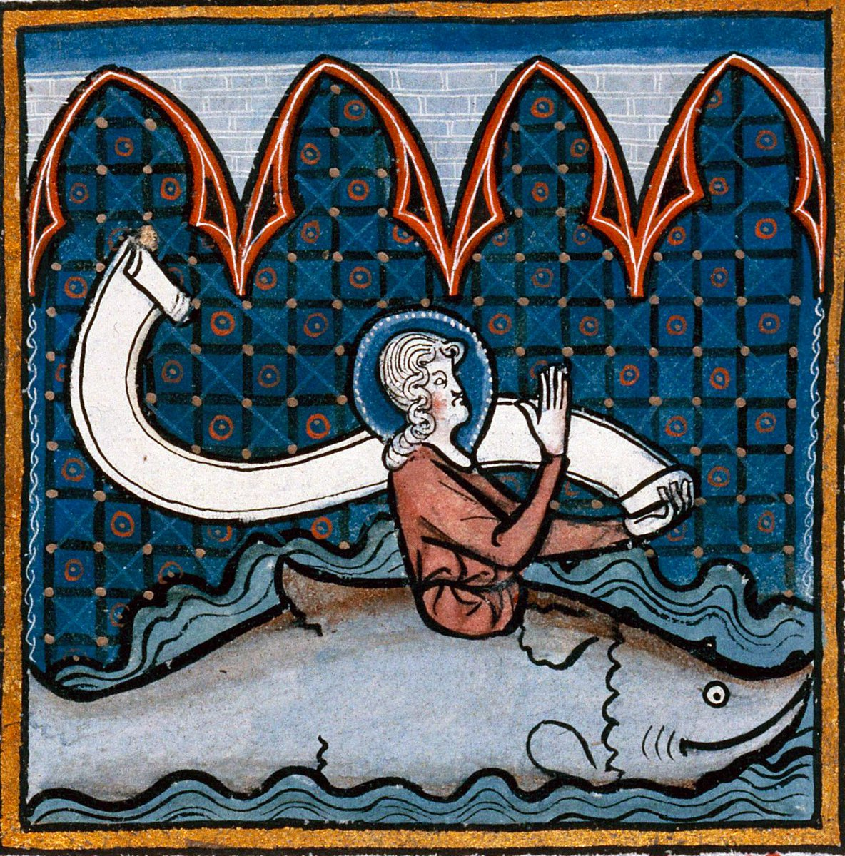 Jonah Bible IllustrationArtist unknown, circa 1280