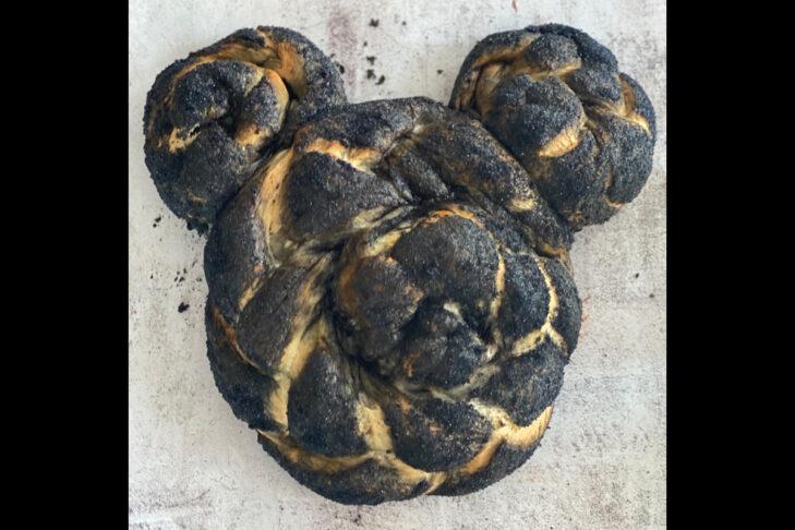 Mickey Mouse challah (Courtesy Mandylicious Challah)