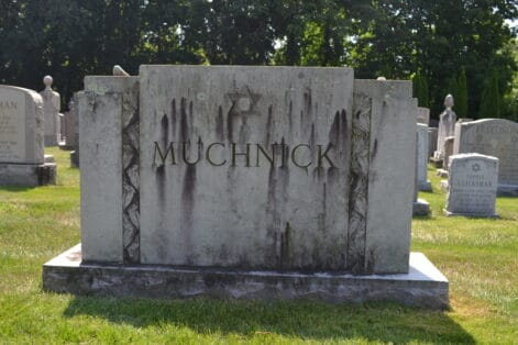 Isadore Muchnick's grave at Adath Jeshurun Cemetery in West Roxbury (Photo: Ken Bresler)