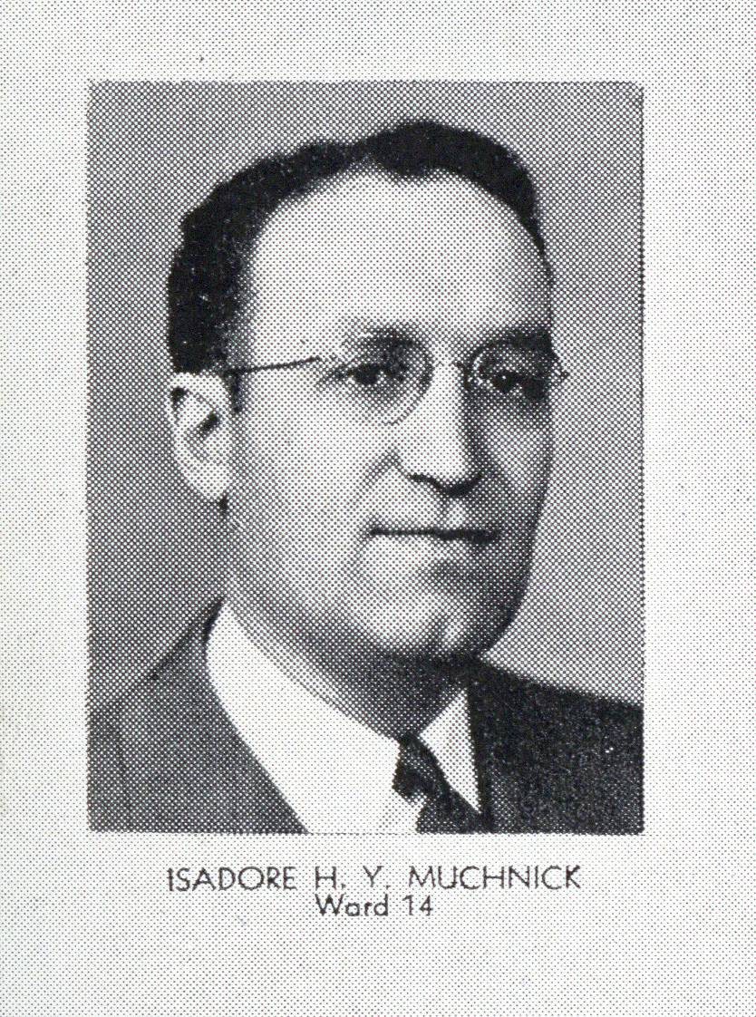 Isadore Muchnick in the Boston Municipal Register for 1944 (Courtesy City of Boston Archives)