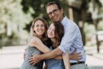 Liz and Keith Newstadt with their daughter Miranda at her bat mitzvah in June (Courtesy photo)