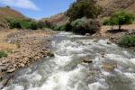 Jordan river on mountain side