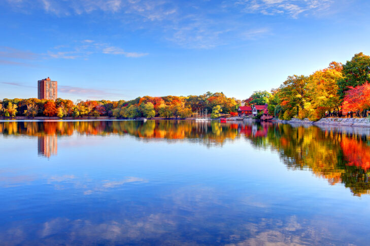 Autumn foliage along Jamaica Pond in Boston's Jamaica Plain neighborhood. Boston is the largest city in New England, the capital of the state of Massachusetts. Boston is known for its central role in American history,world-class educational institutions, cultural facilities, and champion sports franchises.