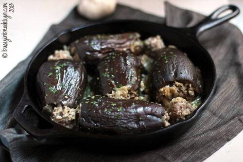 meat-rice-stuffed-eggplant