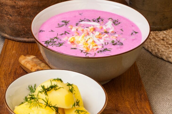 traditional-lithuanian-cold-beet-pink-soup-picture-id914096866