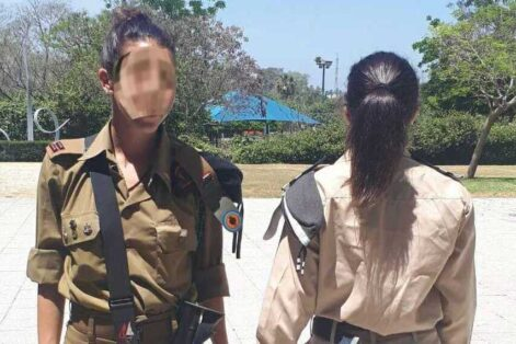 Two of Naomi and Boaz's daughters in Israel, their identities obscured for security (Courtesy photo)