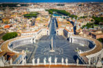 View from top of St Peters Square, Vatican, Rome