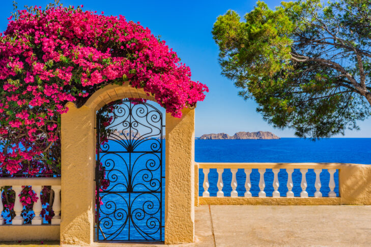 Beautiful sea view at the coast of Majorca island, Spain Mediterranean Sea