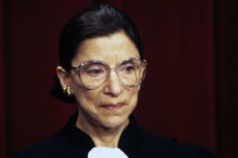 Associate Justice of the Supreme Court Ruth Bader Ginsburg poses for an official photo at the United States Supreme Court in Washington, DC on December 3, 1993.Credit: Ron Sachs / CNP