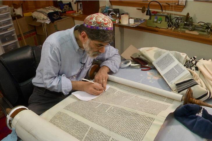 Commandment 613 – Rabbi Kevin Hale restoring a scroll