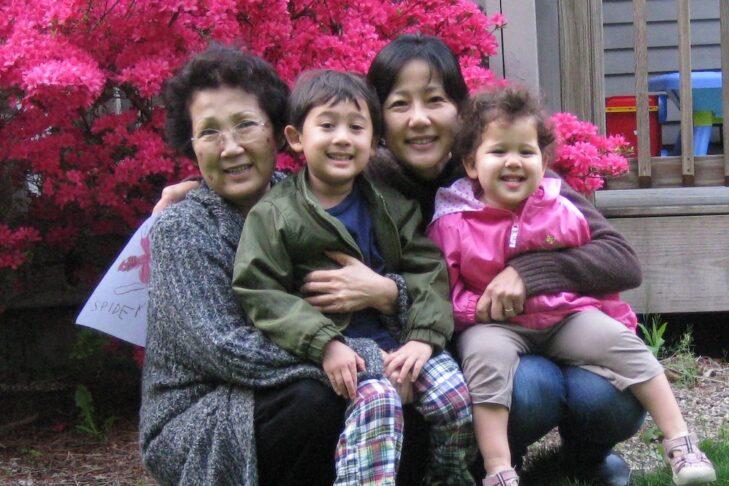 Karen, her mother, and her children