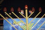 BOSTON, MA: December 10, 2020: Massachusetts Governor Charlie Baker, center, and Boston Mayor Marty Walsh join Rabbi Joseph Zaklos, left, for the 37th Annual Menorah-Lighting in celebration of the start of Chanukah on the Boston Common in Boston, Massachusetts. (Staff photo by Nicolaus Czarnecki/MediaNews Group/Boston Herald)