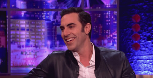 "Sacha Baron Cohen on ""The Jonathan Ross Show"" (Promotional still)"