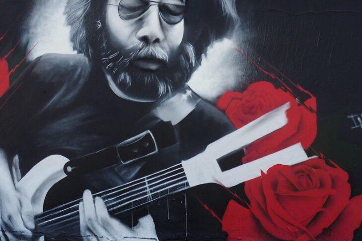 Jerry Garcia Haight Street Tribute Mural Art in San Francisco