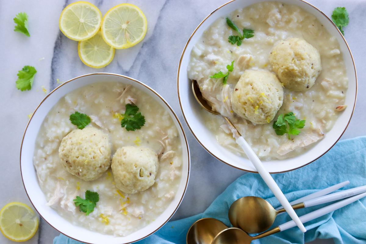 Chicken-Lemon-Rice-Matzo-Ball-Soup- What Jew Wanna Eat