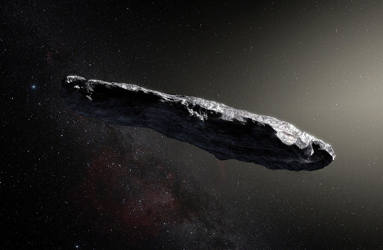 """Artist's impression of """"Oumuamua,"""" the first known interstellar object to pass through the solar system (Illustration: ESO/M. Kornmesser)"""
