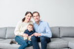 Rep. Jake Auchincloss with his wife, Michelle, and son, Teddy (Courtesy photo)