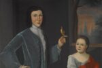 """Franks Children with Bird"" by Gerardus Duyckinck I"