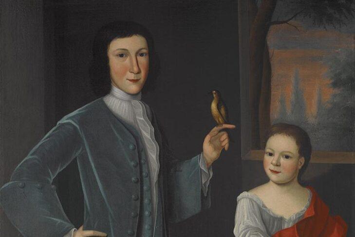 """""""Franks Children with Bird"""" by Gerardus Duyckinck I"""