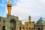 The Imam Reza shrine, largest mosque in the world in the city Mashhad, Razavi Khorasan, Iran