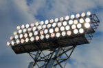 Stadium Lights against a blue night sky