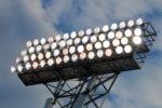 Stadium Lights against a blue night sky