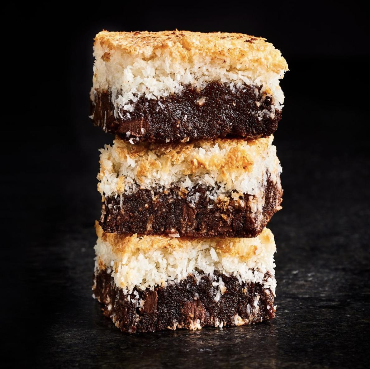 Greg DuPree coconut macaroon brownies