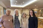 From left: Ida Rudolph, Joan Goldstein, Charlotte Moses and Kristen Donnelly, executive director of Cohen Florence Levine Estates (Courtesy photo)
