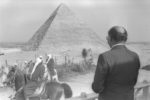 Menachem Begin in Egypt, visiting Khufu's Pyramid, in 1979.MOSHE MILNER