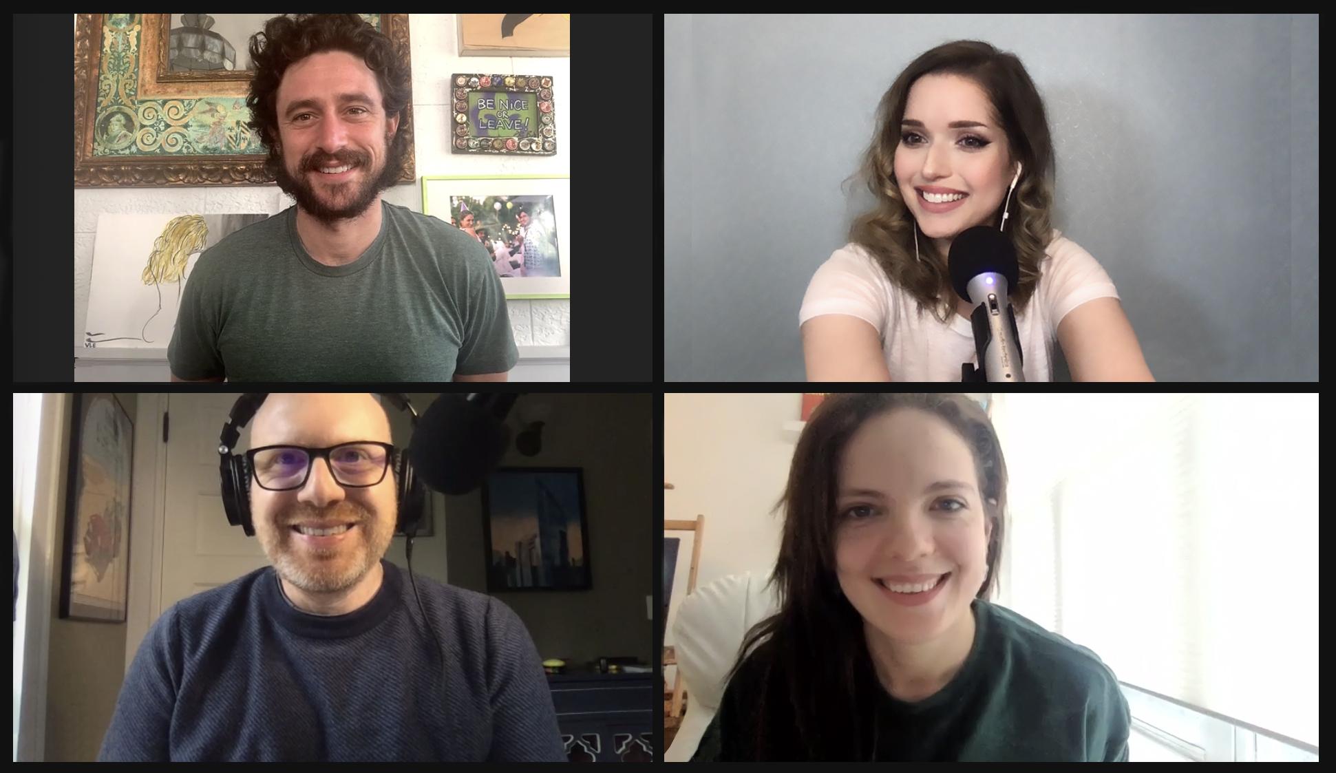 Clockwise, from top left: Dave Davis, Miriam Anzovin, Malky Goldman and Dan Seligson (Courtesy JewishBoston)