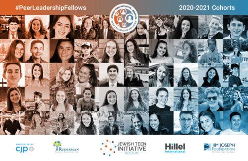 The 2020-21 Jewish Teen Initiative Peer Leadership Fellows (Courtesy image)