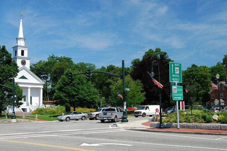 The town center of Sharon, Massachusetts (Photo: Wikimedia Commons)