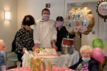From left: Andrea Hillel, executive director of Kaplan Estates; Michael Millard, food service director at Chelsea Jewish Lifecare; Robbie Maglio of Chelsea Jewish Lifecare; and Thelma Kropp Taylor (Courtesy photo)