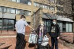 Jookender delivers gifts to seniors at Passover (Courtesy photo)
