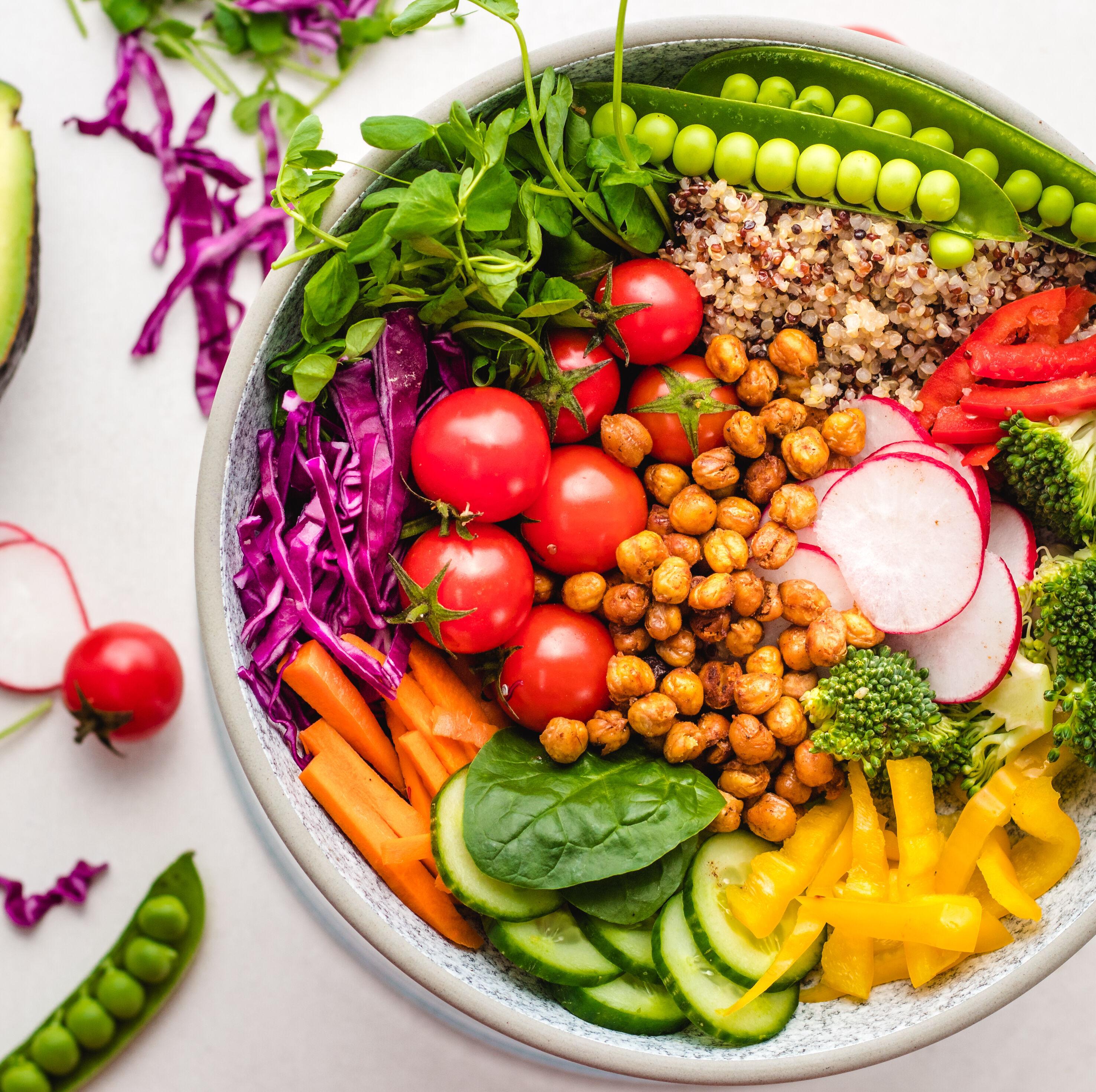 Rainbow Salad With Tahini Dressing