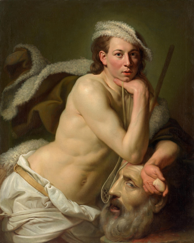 """Self-Portrait as David With the Head of Goliath"" by Johan Zoffany, 1756 (Public domain via Wikimedia Commons)"