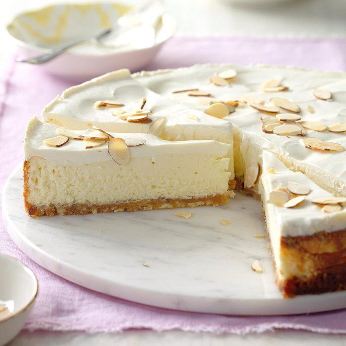 Luscious-Almond-Cheesecake_taste of home