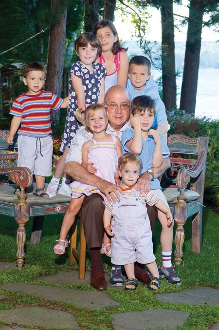 Mike Rukin with his grandkids