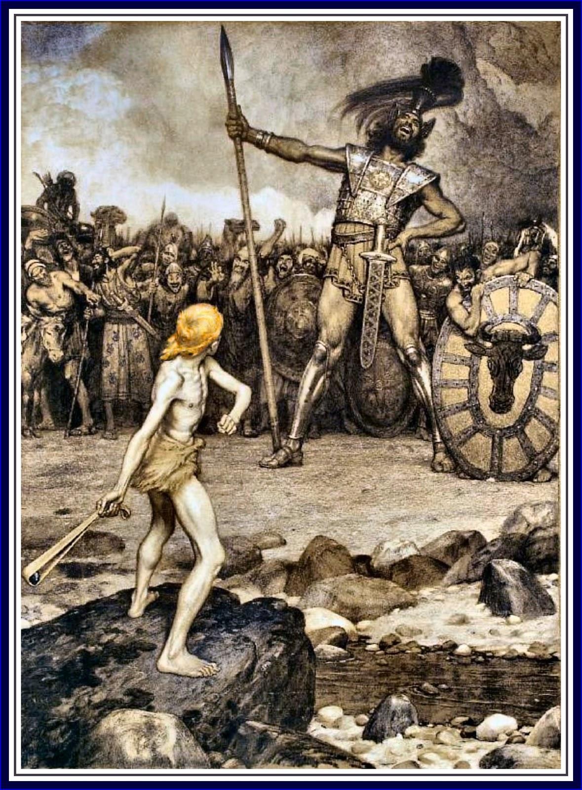 """David und Goliath"" by Osmar Schindler, 1888 (Public domain via Wikimedia Commons)"