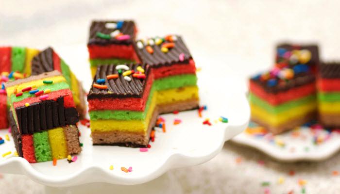 Rainbow Marzipan Cookies