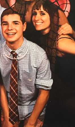 Ezra, left, and Ashley at a cousin's bat mitzvah (Courtesy photo)