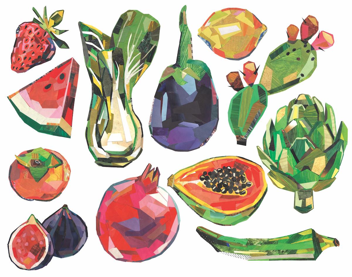 """""""Seasonal Fruits and Veggies"""" by Mia Schon (Courtesy Mia Schon)"""