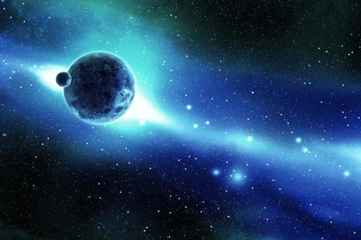 Digital Generated Image16:9 Space Scenes: