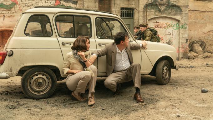 "Ruth Wilson as Mona Juul and Andrew Scott as Terje Rød-Larsen in ""Oslo"" (Promotional still: HBO)"