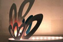 """""""Ziv"""" (marine plywood, acrylic paint and aluminum) by Ariel Basson Freiberg (Photo: Linda Apple)"""