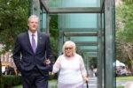 Gov. Charlie Baker with Holocaust survivor Janet Singer Applefield (Courtesy photo)