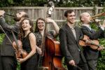 Ezekiel's Wheels Klezmer Band featuring Nat Seelen, far left (Photo: Daniel A. Byers)